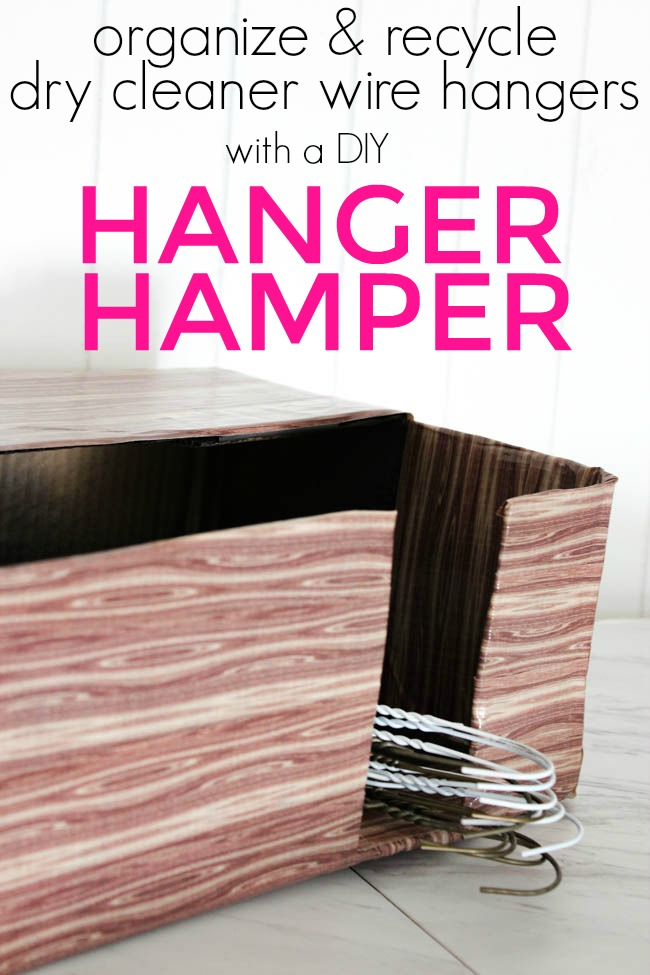 DIY Hanger Hamper Tutorial