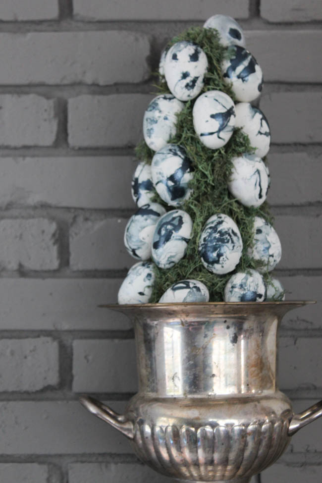 Marbled Easter Egg Topiary Tutorial