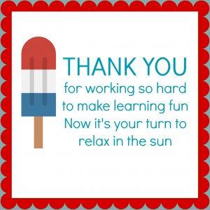 TEACHER APPRECIATION GIFT IDEA