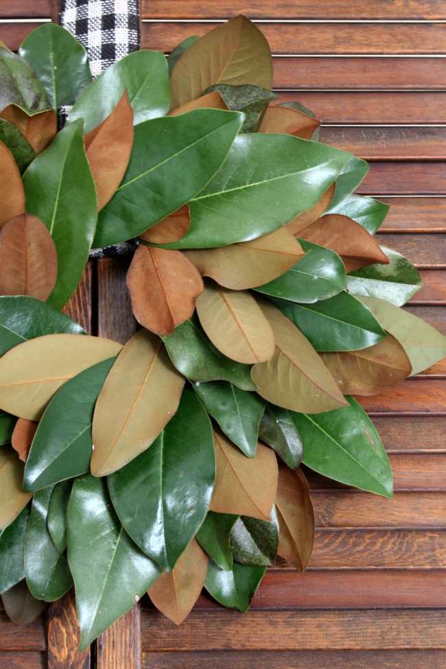 supplies needed for this diy magnolia wreath