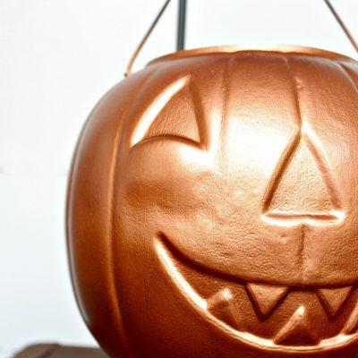 DIY Halloween Copper Candy Cauldron