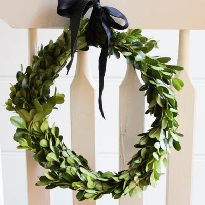 {15-Minute} DIY Boxwood Wreath Tutorial