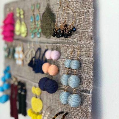 DIY Statement Earring Organization