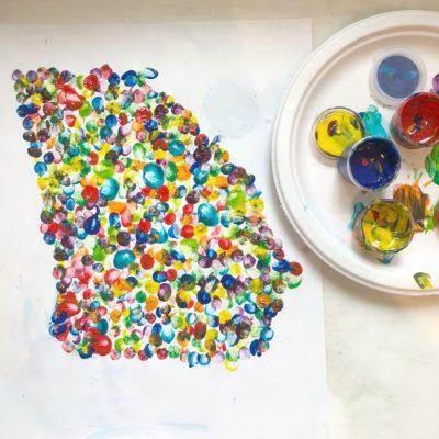 DIY State Fingerprint Art and Kids Art Gallery Wall