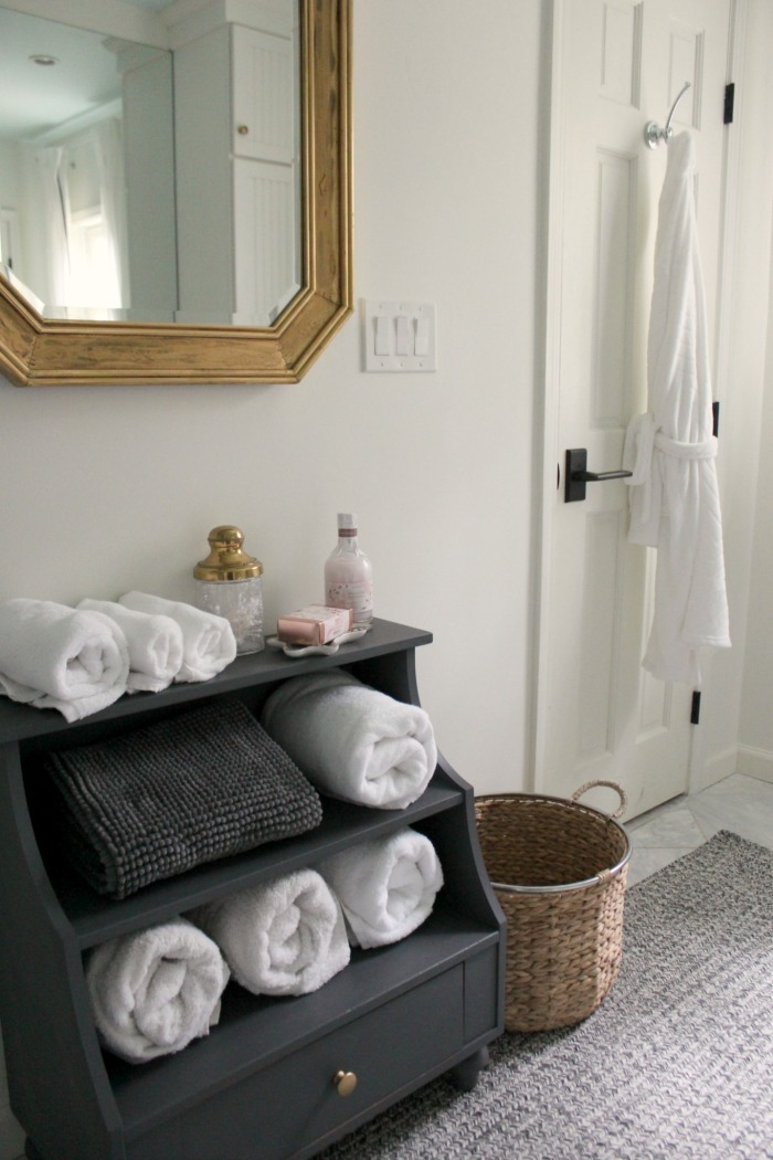 Modern Traditional Guest Bathroom Reveal Robe - Southern ...