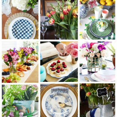 Spring Progressive Dinner Party – Easy DIY Napkins from Fabric