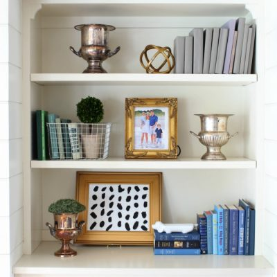 Styling Our Built-In Shelves {and Five Simple Tips}