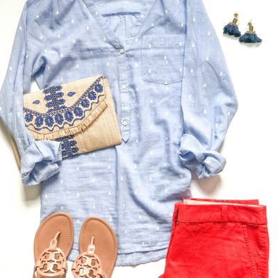 {3 Ways} Wear Red Shorts for Summer