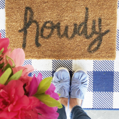 Layered Front Door Mat Trend