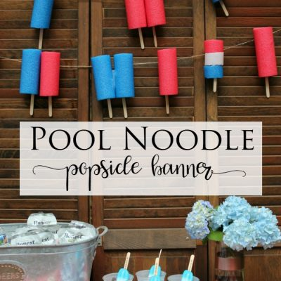 Pool Noodle Popsicle Banner
