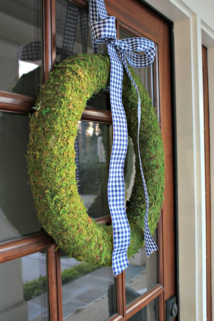 Easy DIY Moss DIY Moss Spring Wreath for Door