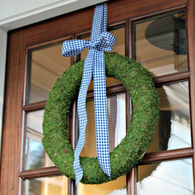 DIY Moss Wreath Tutorial