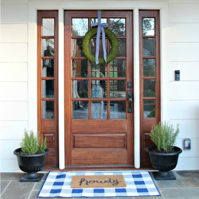 Layered Front Door Mat Buffalo Check Rug