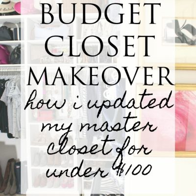 Master Closet – Final Reveal