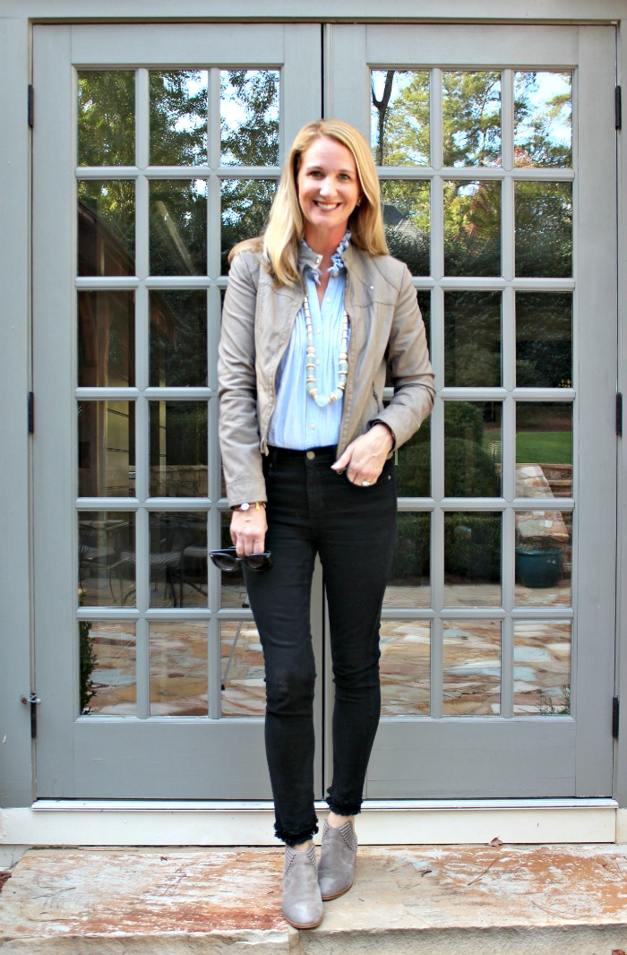 buying cheap best cheap skate shoes Date Night Style | Black Jeans and Moto Jacket - Southern ...