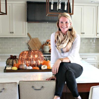 Kitchen Island Fall Centerpiece Idea