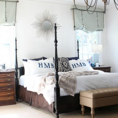 Winter White Master Bedroom Refresh