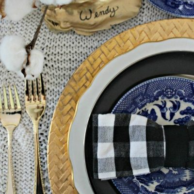 Four Last Minute Table Setting Ideas