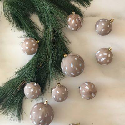 DIY Antelope Print Christmas Ornament