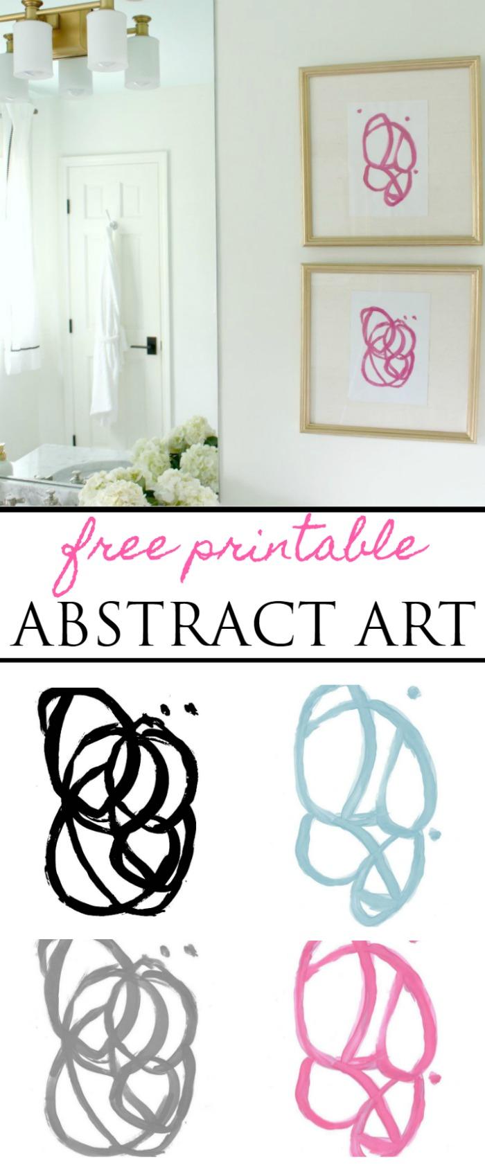 free printable wall art abstract