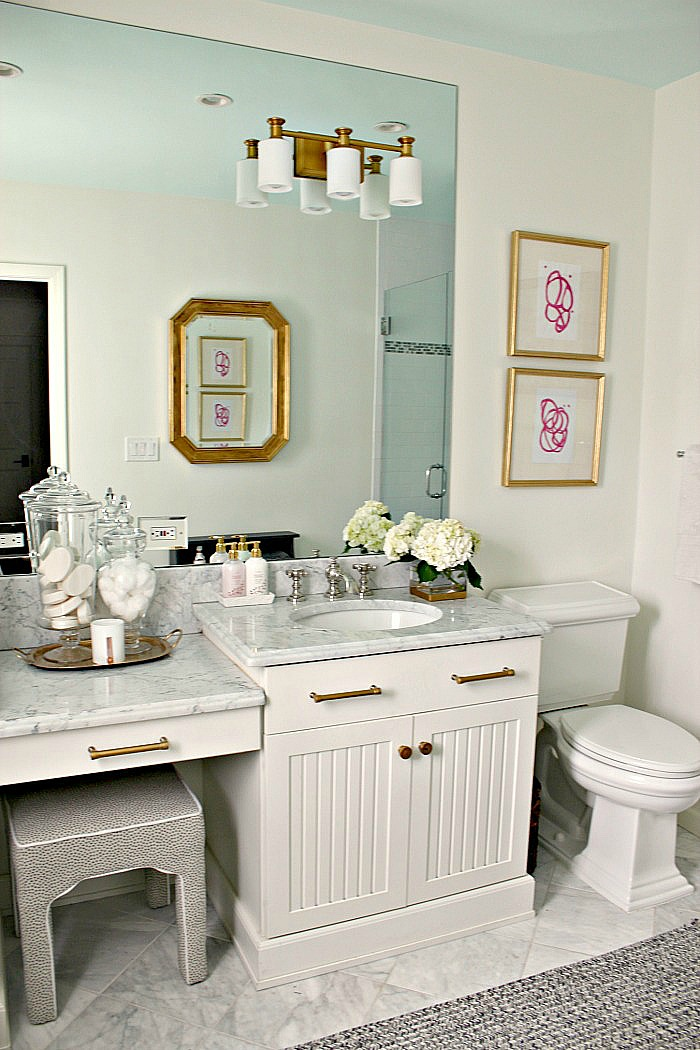 Modern Traditional Guest Bathroom Reveal Gold - Southern ...