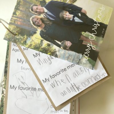 How To Save Your Old Christmas Cards (+ Free Printable)