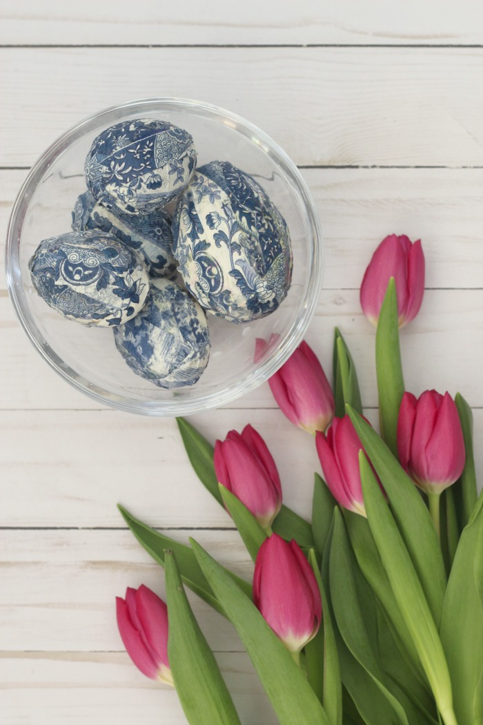 Blue White Chinoiserie Easter Eggs
