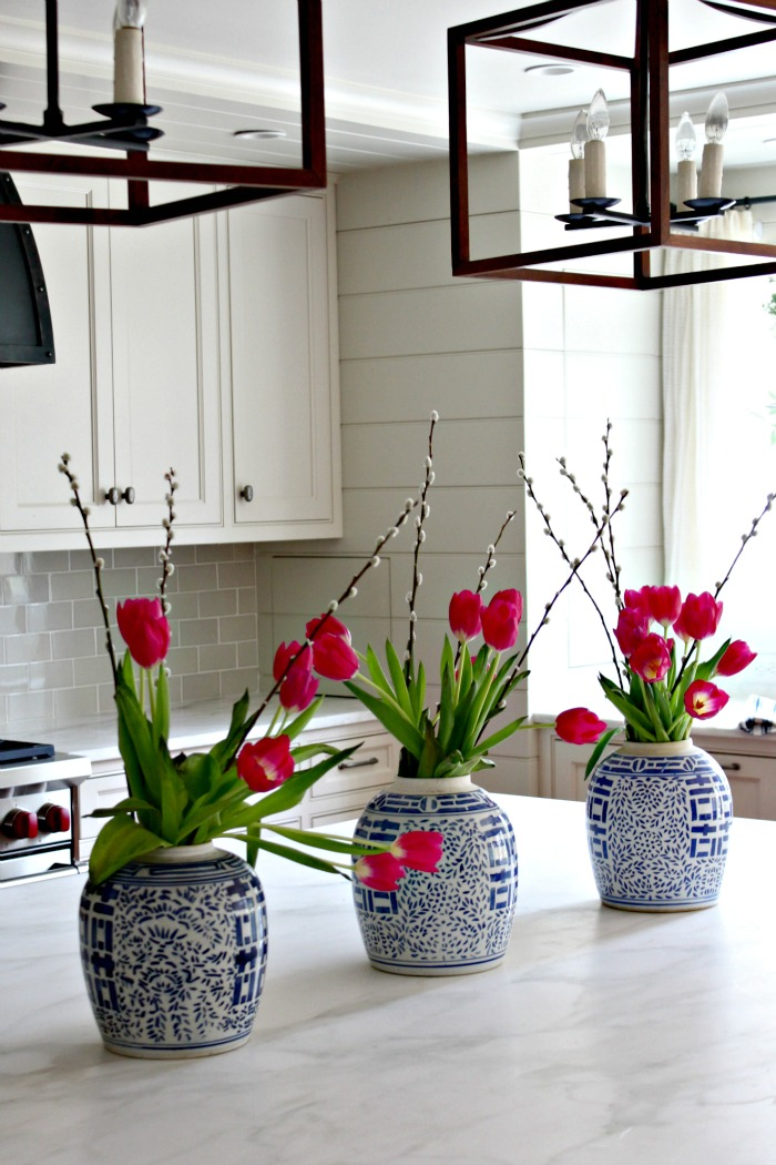 spring kitchen island centerpiece