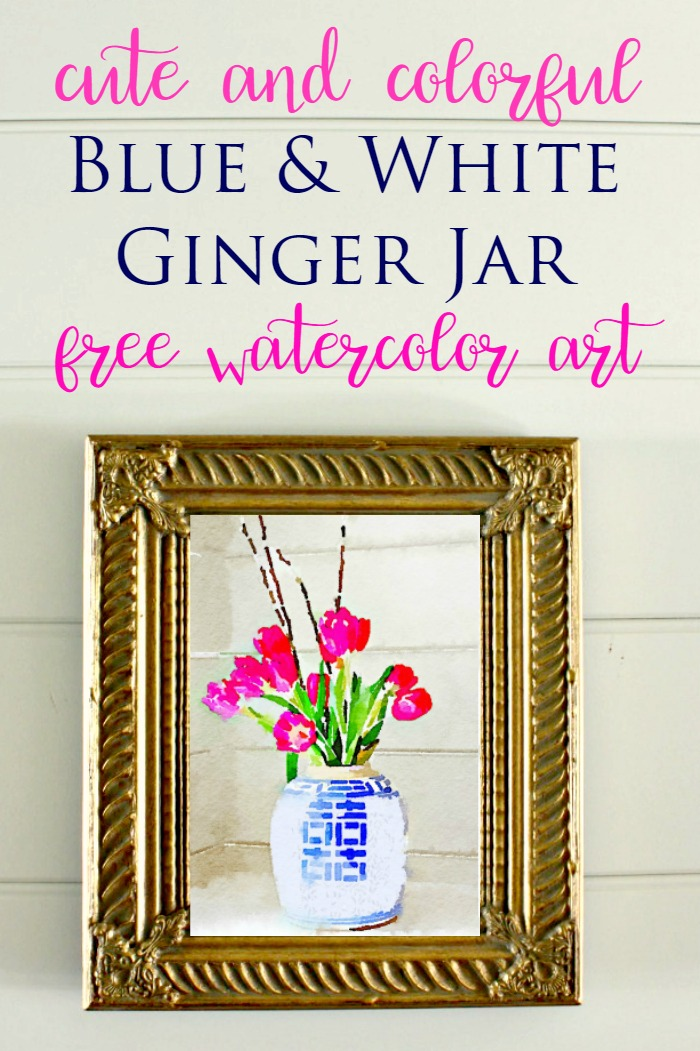 ginger jar watercolor