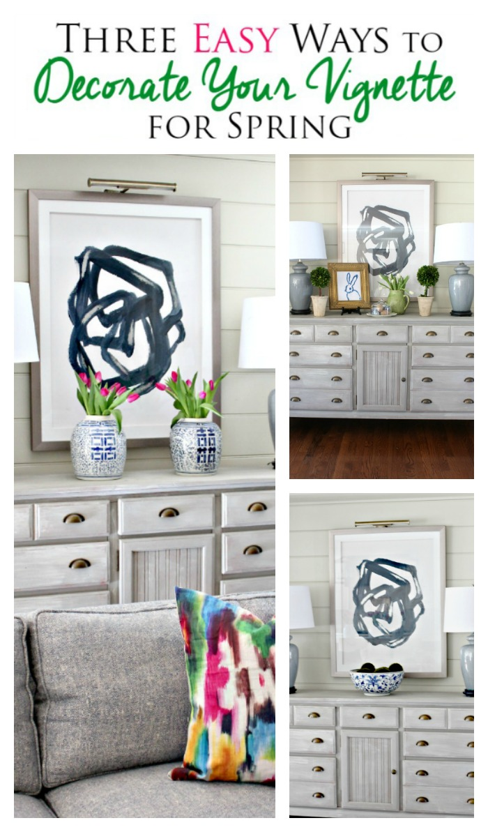 spring foyer decor