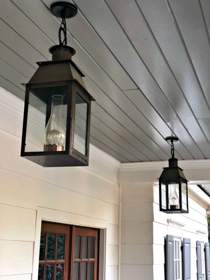 Front Porch Painted Ceiling Southern