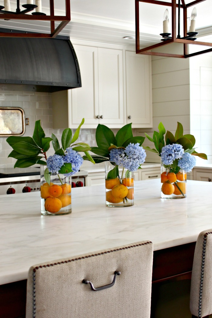 Hydrangea Arrangement Citrus Summer