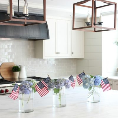 Patriotic Centerpiece – Our Fourth of July Kitchen Island