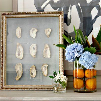 Keepsake Oyster Shell Art