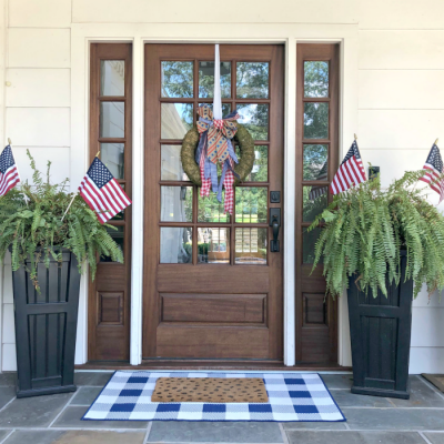 Our Festive Fourth of July Front Porch