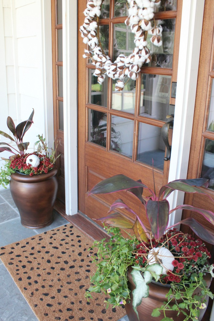Fall Porch Planter Ideas
