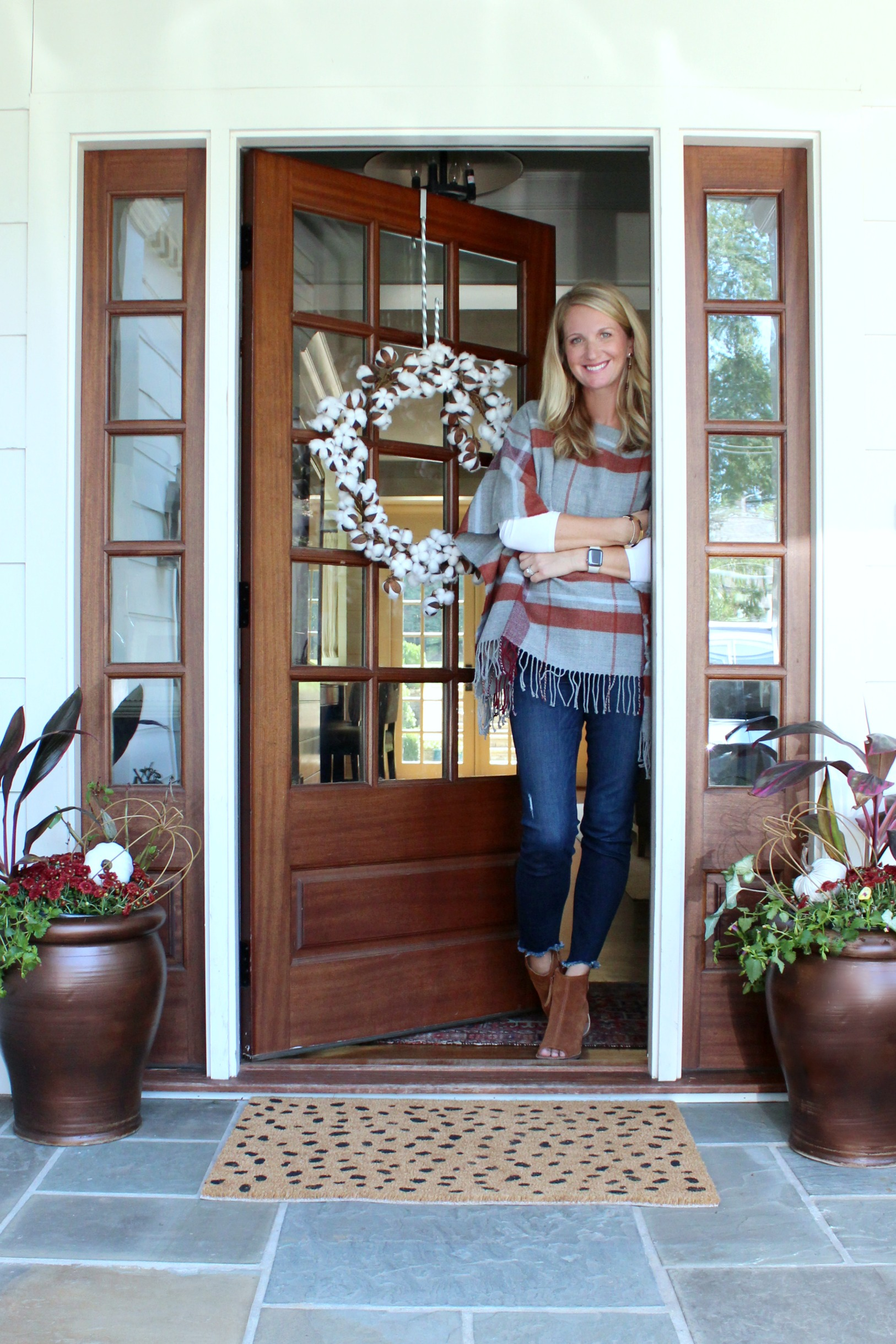Fall Front Porch - Fall Planter Ideas