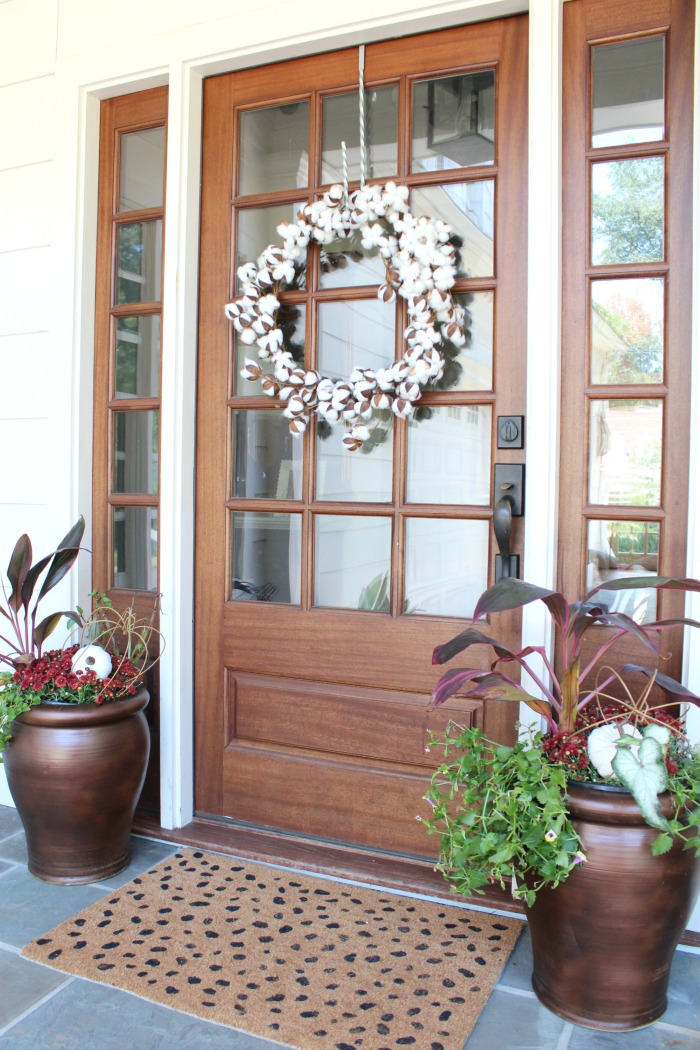 Fall Outdoor Container Planters Front Porch