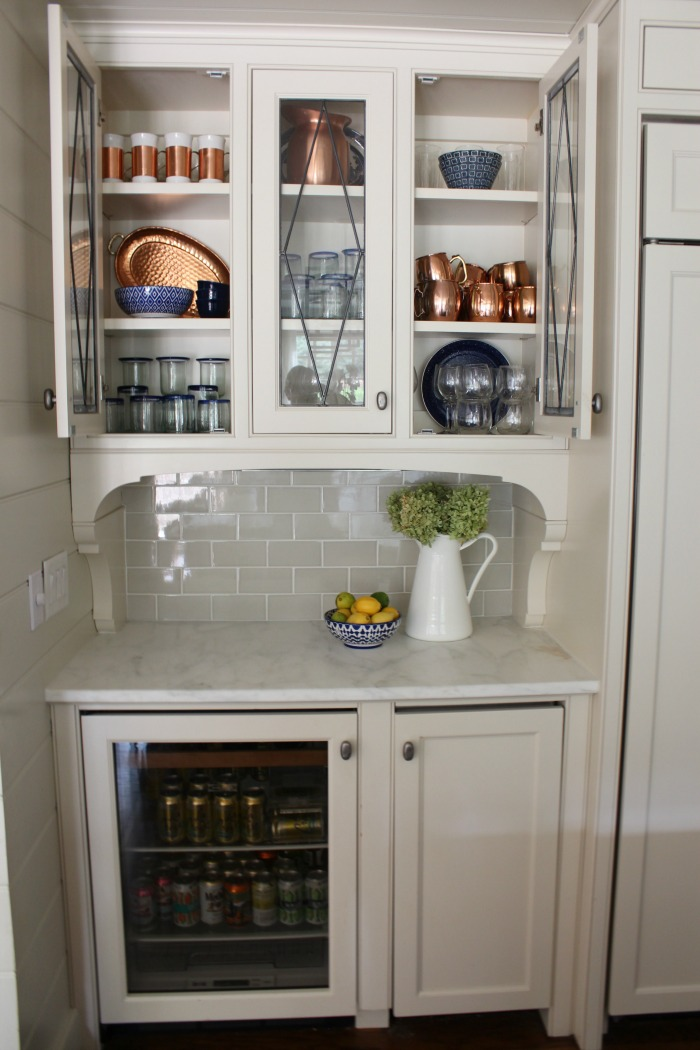 Styled Glass Kitchen Cabinets Southern State Of Mind Blog By Heather
