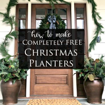 How to Make Completely FREE Christmas Planters for Your Porch