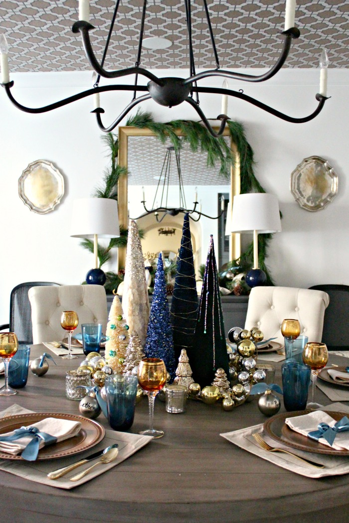 Winter Wonderland Dining Room A Christmas Tree Centerpiece