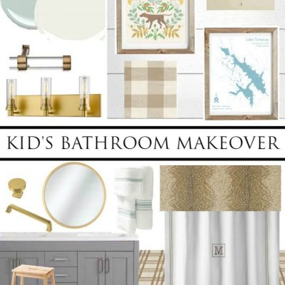 Let's Kick Off the New Year with a Kid's Bathroom Makeover