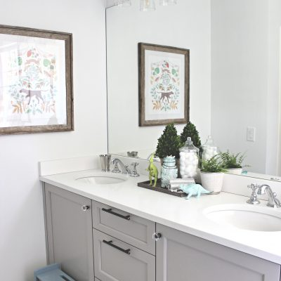 Before & After | A Simple and Classic Kid's Bathroom Refresh