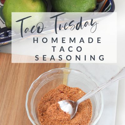 Taco Tuesday  ||  Homemade Taco Seasoning