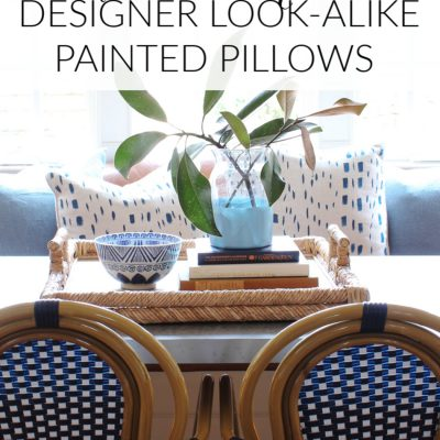 How to Make Designer Look-Alike Painted Pillows
