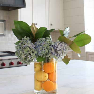 A Fresh and Floral Citrus Summer Kitchen
