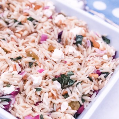 It's a Keeper ||  Orzo Salad with Lemon, Feta and Pine Nuts Recipe