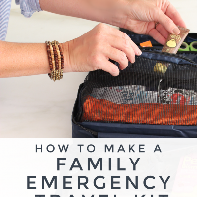 20 Minute Organizing || Prepping Our Family Travel Emergency Kit