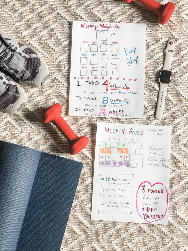 bullet journal fitness tracker