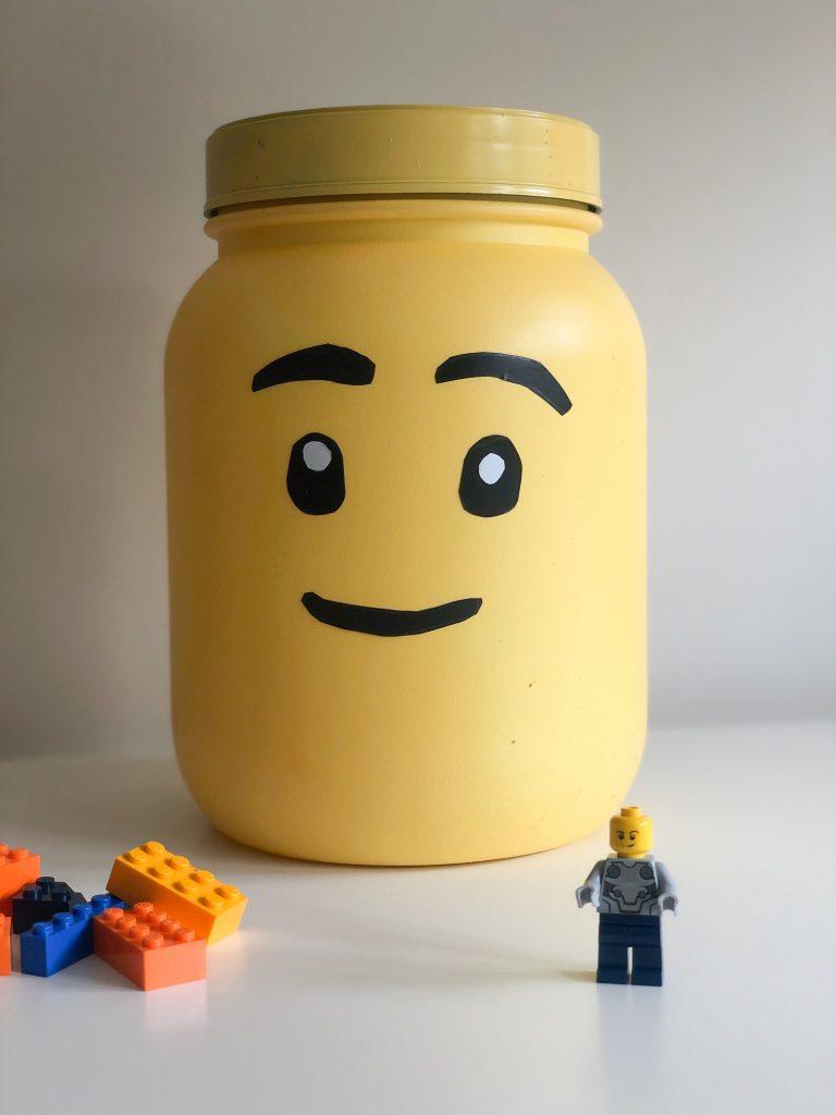 DIY Lego Storage Head